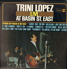 Trini Lopez - Live At Basin St. East CD