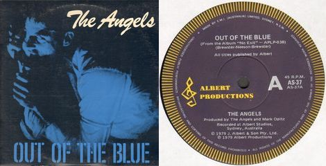 Angels - Out Of The Blue Record