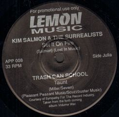 Thumbnail - SALMON,Kim/TRASH CAN SCHOOL/POWDER MONKEYS/COMA-TONES