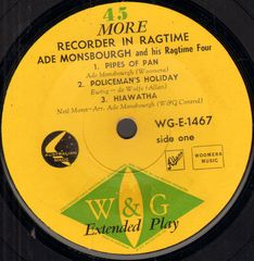 Thumbnail - MONSBOURGH,Ade,And His Ragtime Four