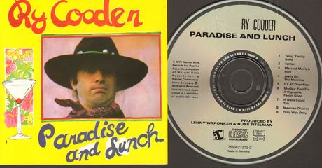 Ry Cooder - Paradise And Lunch Album