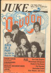 Juke Magazine - Juke 381 - Dragon, Duran Duran, Bananarama, Cat Stevens, Australian Crawl, Glyn Mason