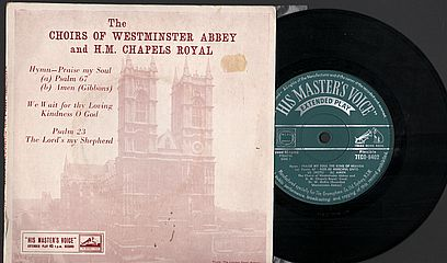 Thumbnail - CHOIRS OF WESTMINSTER ABBEY and H.M. CHAPELS ROYAL